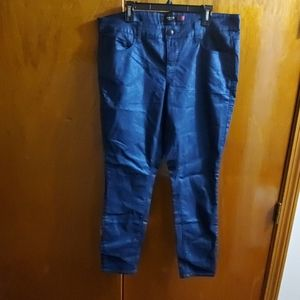 Metallic Blue Jeans